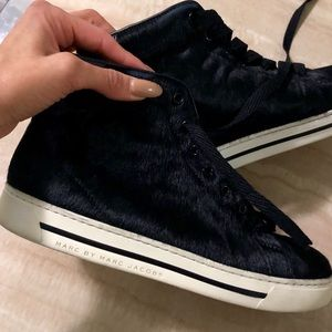 Marc by Marc Jacobs calf skin high top sneakers